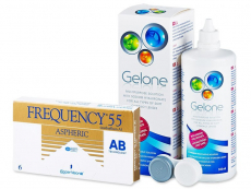 Frequency 55 Aspheric (6 lentilles) + Gelone 360 ml