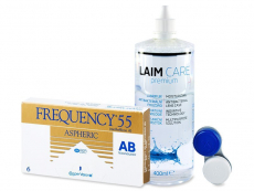 Frequency 55 Aspheric (6 lentilles) + Laim-Care 400ml