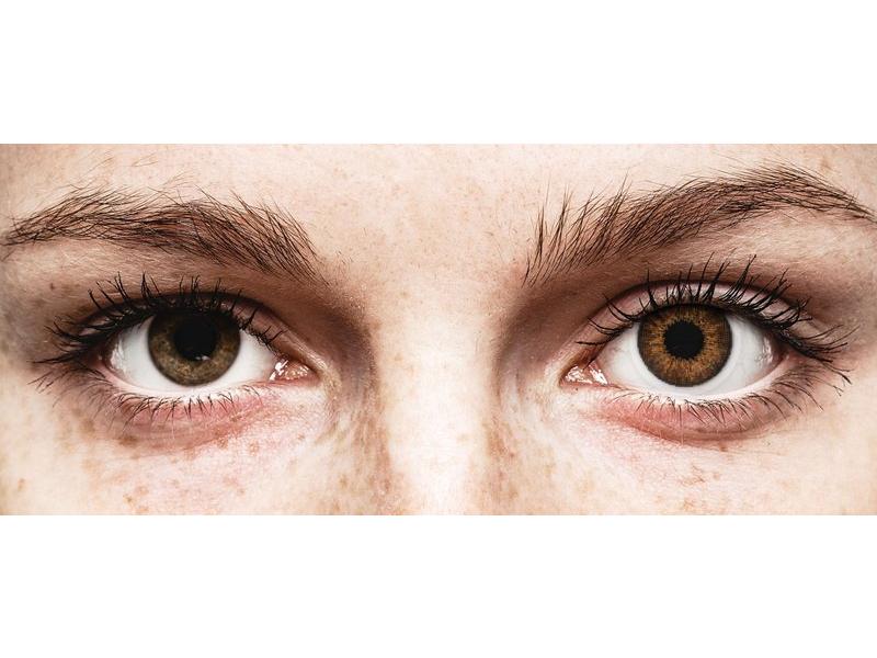 Lentilles de contact effet naturel Marron - correctrices - Air Optix (2lentilles)