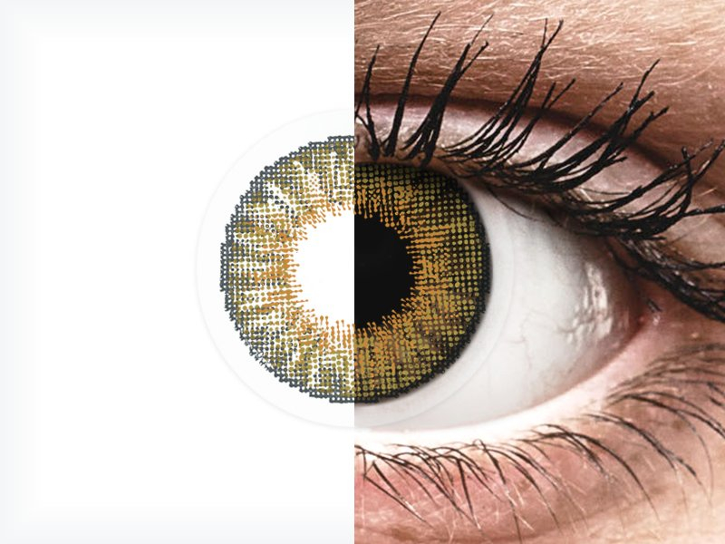 Lentilles de contact effet naturel Noisette Pure Hazel - correctrices - Air Optix (2lentilles)