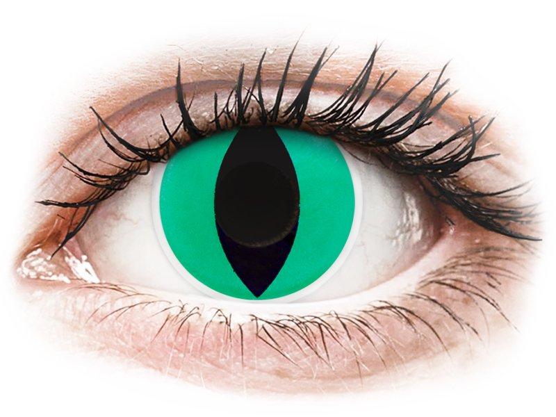 Lentilles de contact Vert Anaconda - ColourVue Crazy (2 lentilles)