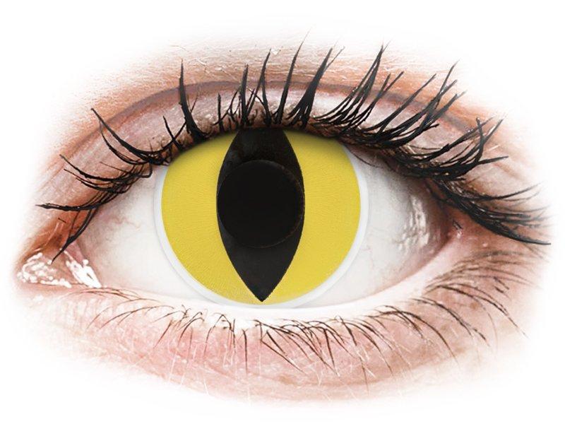 Lentilles de contact Jaune Cat Eyes - ColourVue Crazy (2 lentilles)