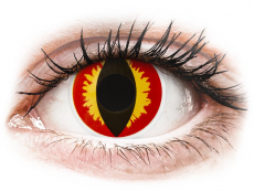 Lentilles de contact Rouge Dragon Eyes - ColourVue Crazy (2 lentilles)