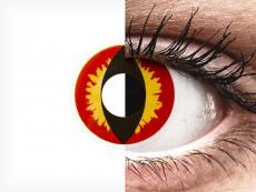 Lentilles de contact Rouge Dragon Eyes - ColourVue Crazy (2 lentilles)