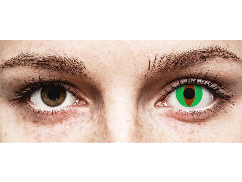 Lentilles de contact Vert Raptor - ColourVue Crazy (2 lentilles)