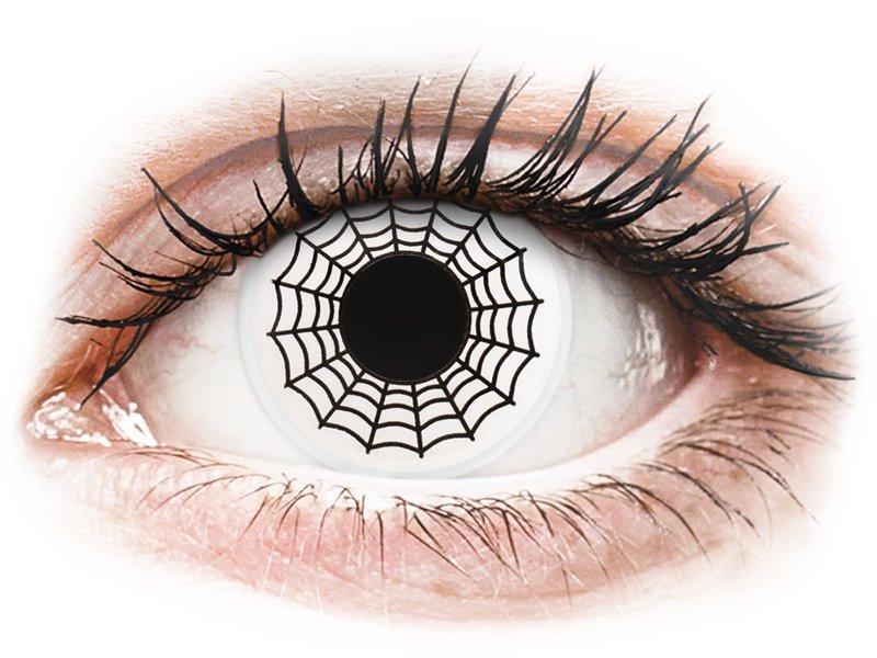 Lentilles de contact Noir et Blanc Spider - ColourVue Crazy (2 lentilles)
