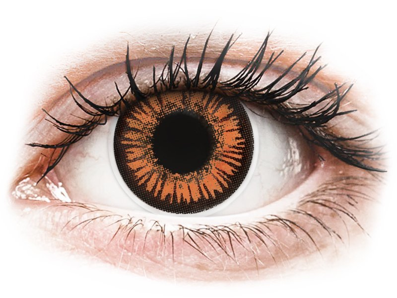 Lentilles de contact Orange Twilight - ColourVue Crazy (2 lentilles)
