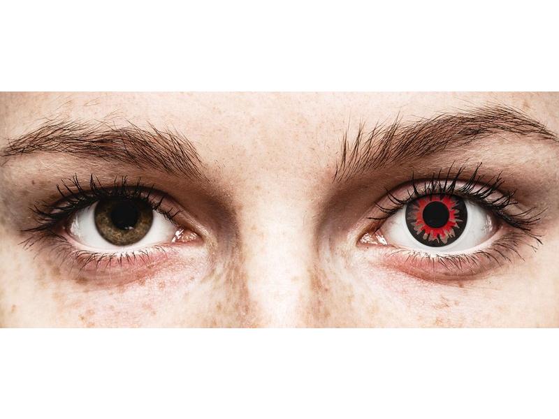 Lentilles de contact Rouge Vulturi - ColourVue Crazy (2 lentilles)