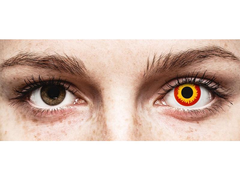 Lentilles de contact Rouge Wildfire - ColourVue Crazy (2 lentilles)