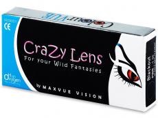 Lentilles de contact Rouge Red Devil - ColourVue Crazy - correctrices (2 lentilles)