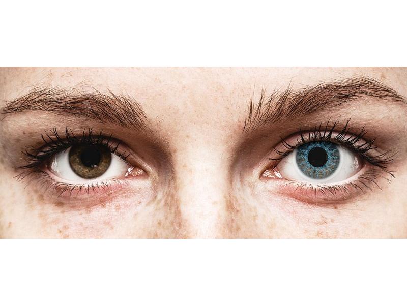 Lentilles de contact Bleu Solar Blue - ColourVue Crazy - correctrices (2 lentilles)