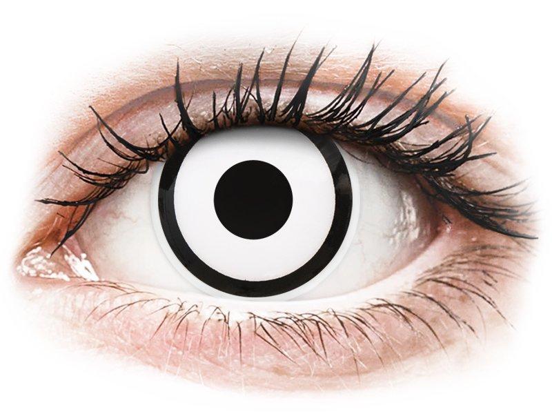 Lentilles de contact Blanc White Zombie - ColourVue Crazy - correctrices (2 lentilles)