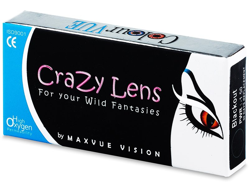 Lentilles de contact Blanc WhiteOut - ColourVue Crazy - correctrices (2 lentilles)