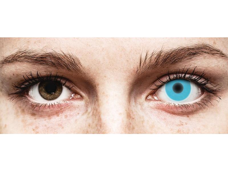 Lentilles de contact Bleu Glow - ColourVue Crazy (2lentilles)