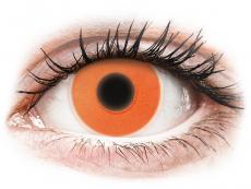 Lentilles de contact Glow Orange - ColourVue Crazy (2lentilles)