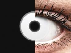 Lentilles de contact Blanc Glow - ColourVue Crazy (2lentilles)