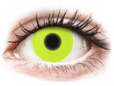 Lentilles de contact Jaune Glow - ColourVue Crazy (2lentilles)