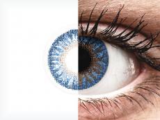Lentilles de contact Bleu True Sapphire - correctrices - TopVue Color (2lentilles mensuelles)