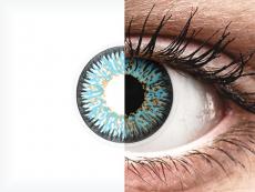 Lentilles de contact Bleu Aqua - ColourVUE Glamour (2lentilles)