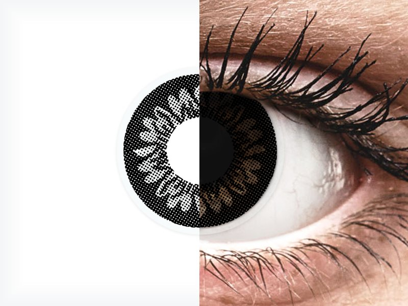 Lentilles de contact Noir Dolly Black - ColourVUE BigEyes - correctrices (2lentilles)