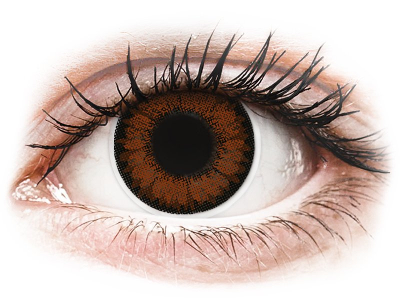 Lentilles de contact Noisette Pretty Hazel - ColourVUE BigEyes - correctrices (2lentilles)