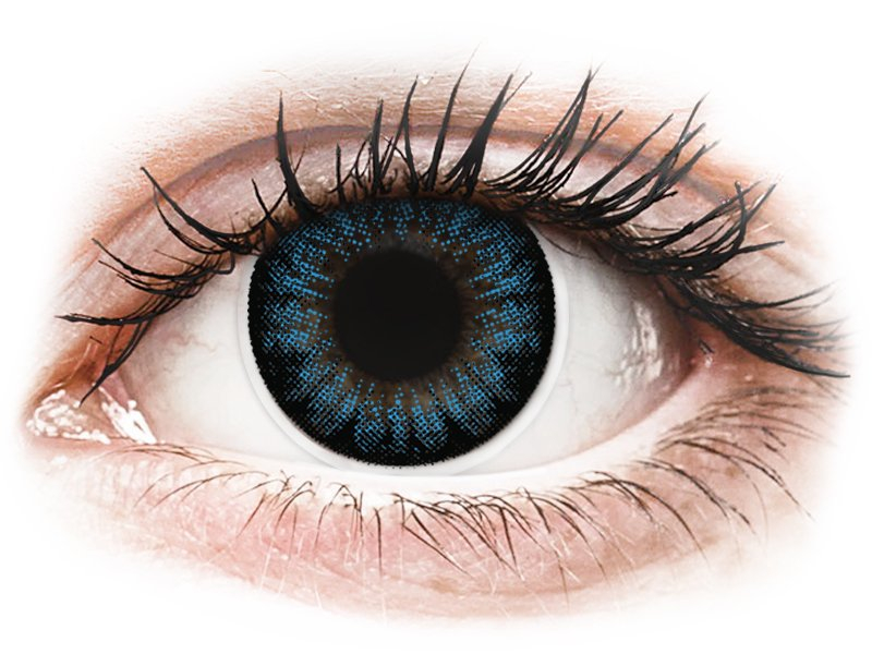 Lentilles de contact Bleu Cool Blue - ColourVUE BigEyes - correctrices (2lentilles)