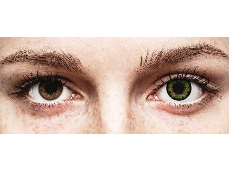 Lentilles de contact Vert Party Green - ColourVUE BigEyes (2lentilles)