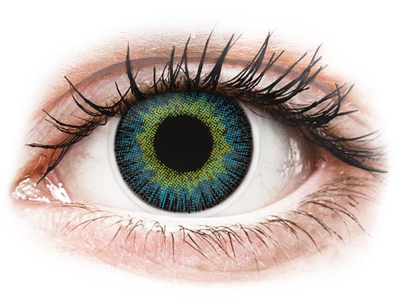 Lentilles de contact Jaune Bleu - ColourVUE Fusion (2lentilles)