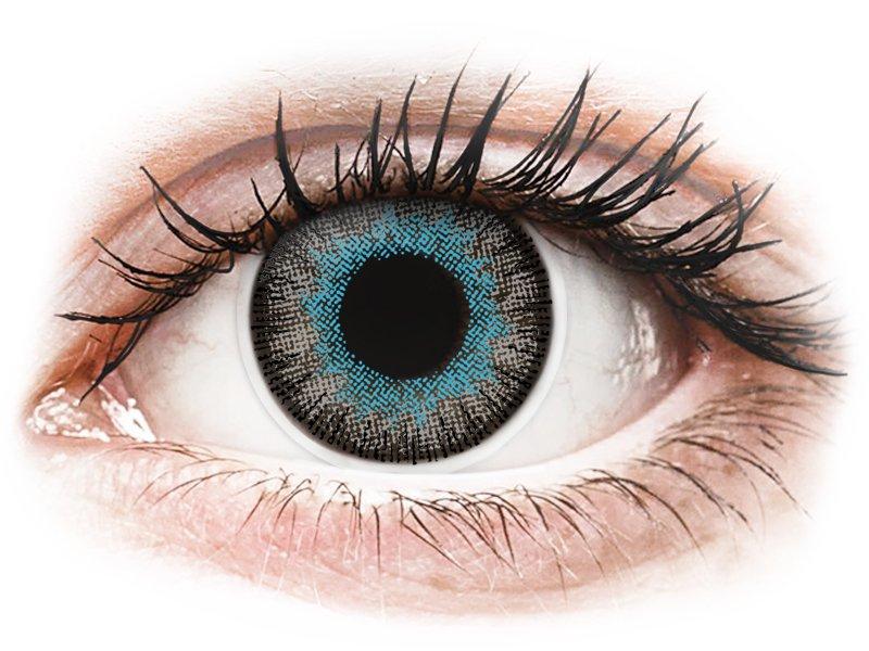 Lentilles de contact Bleu Gris - ColourVUE Fusion (2lentilles)
