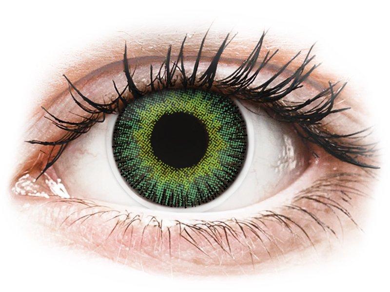 Lentilles de contact Vert Jaune - ColourVUE Fusion - correctrices (2lentilles)