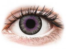 Lentilles de contact Violet Gris - ColourVUE Fusion (2lentilles)