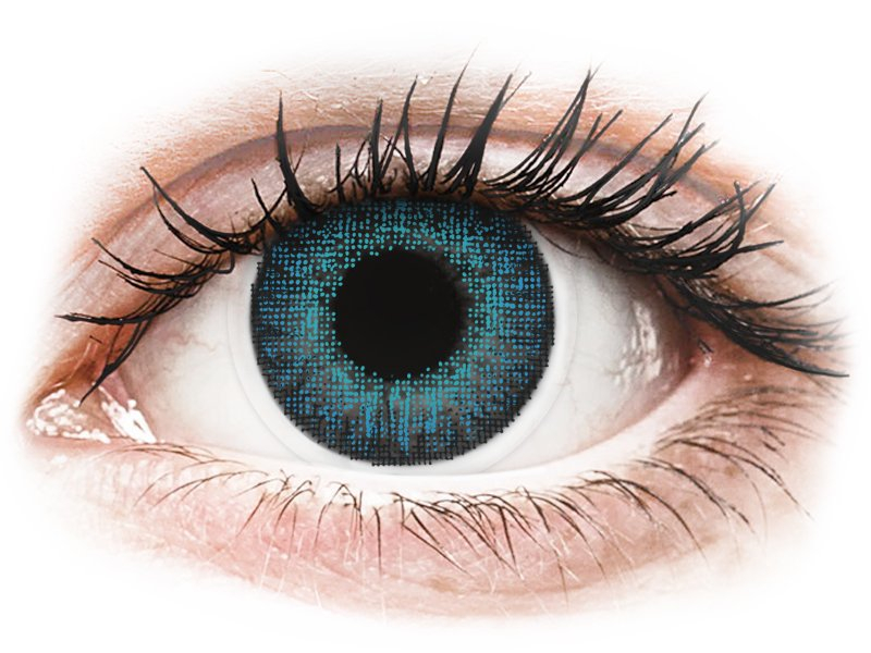 Lentilles de contact effet naturel Bleu Brilliant Blue - Air Optix (2 lentilles)