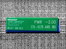 Air Optix plus HydraGlyde for Astigmatism (6lentilles)
