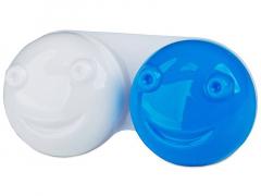 Étui à lentilles 3D - Bleu