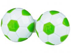 Étui à lentilles Football - Vert