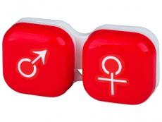 Étui à lentilles Homme & Femme - Rouge