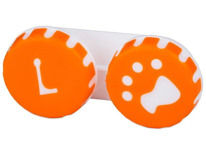 Étui à lentilles Patte - Orange