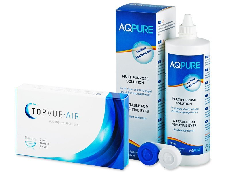 TopVue Air (6 lentilles) +solution AQPure360ml