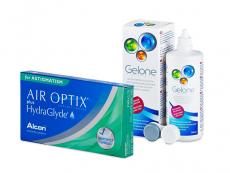 Air Optix plus HydraGlyde for Astigmatism (6 lentilles) + Gelone 360 ml