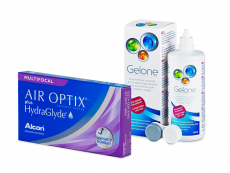 Air Optix plus HydraGlyde Multifocal (6 lentilles) + Gelone 360 ml
