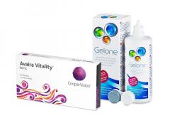 Avaira Vitality Toric (3 lentilles) + Gelone 360 ml