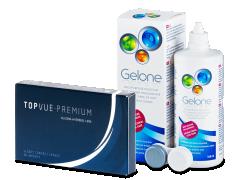TopVue Premium (6 lentilles) + solution Gelone 360 ml