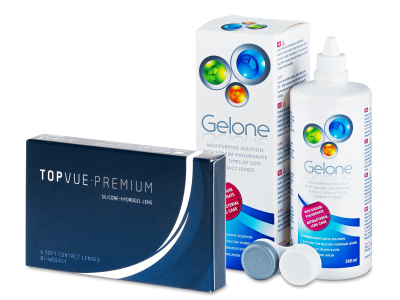 TopVue Premium (6 lentilles) + solution Gelone 360 ml