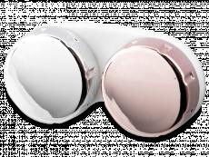 Etui pour lentilles effet miroir – rose/argenté