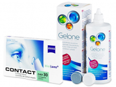 Carl Zeiss Contact Day 30 Compatic (6 lentilles) + solution Gelone 360 ml