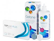 TopVue Monthly Plus (6 lentilles) +Solution Gelone360ml