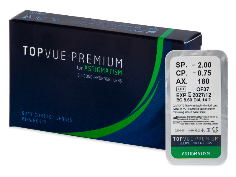 TopVue Premium for Astigmatism (1 lentille)