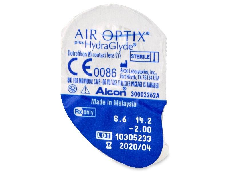 Air Optix plus HydraGlyde (3 lentilles)