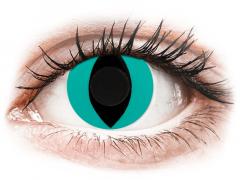 CRAZY LENS - Cat Eye Aqua - journalières non correctrices (2 lentilles)