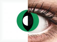 CRAZY LENS - Cat Eye Green - journalières non correctrices (2 lentilles)